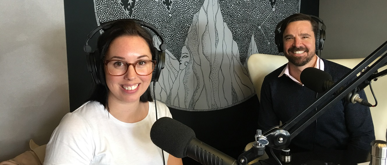 Jess and Sam in the Culture Bites Studio