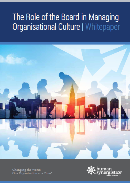 The Role of the Board in Managing Organisational Culture